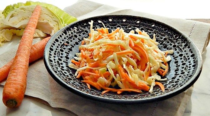 Quick Carrot & Cabbage Slaw