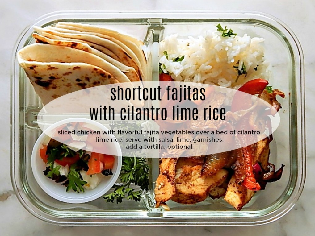 Shortcut Fajita Vegetables & Cilantro Lime Rice Meal Prep