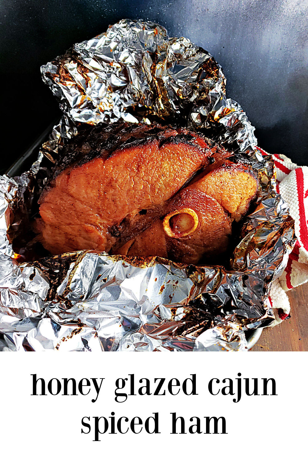 Honey Glazed Cajun Spiced Ham is a fave. The honey spiced glaze hits the perfect sweet spot, the magical place where your taste buds sing without any real heat. #HoneyGlazedCajunHam #HoneyGlazedHam #Cajun Ham #PaulPrudhomme