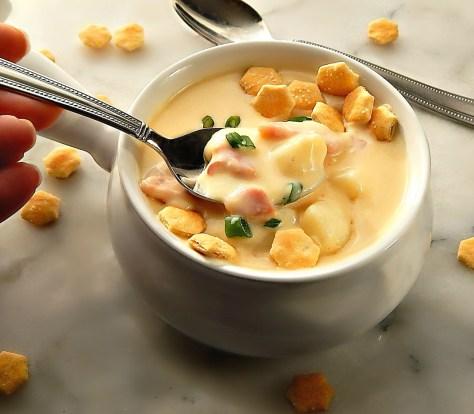 Easy Cheesy Ham & Potato Chowder