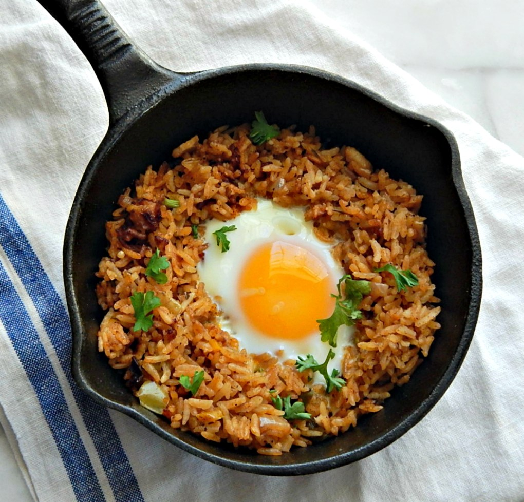 Egg & Rice Breakfast Skillet