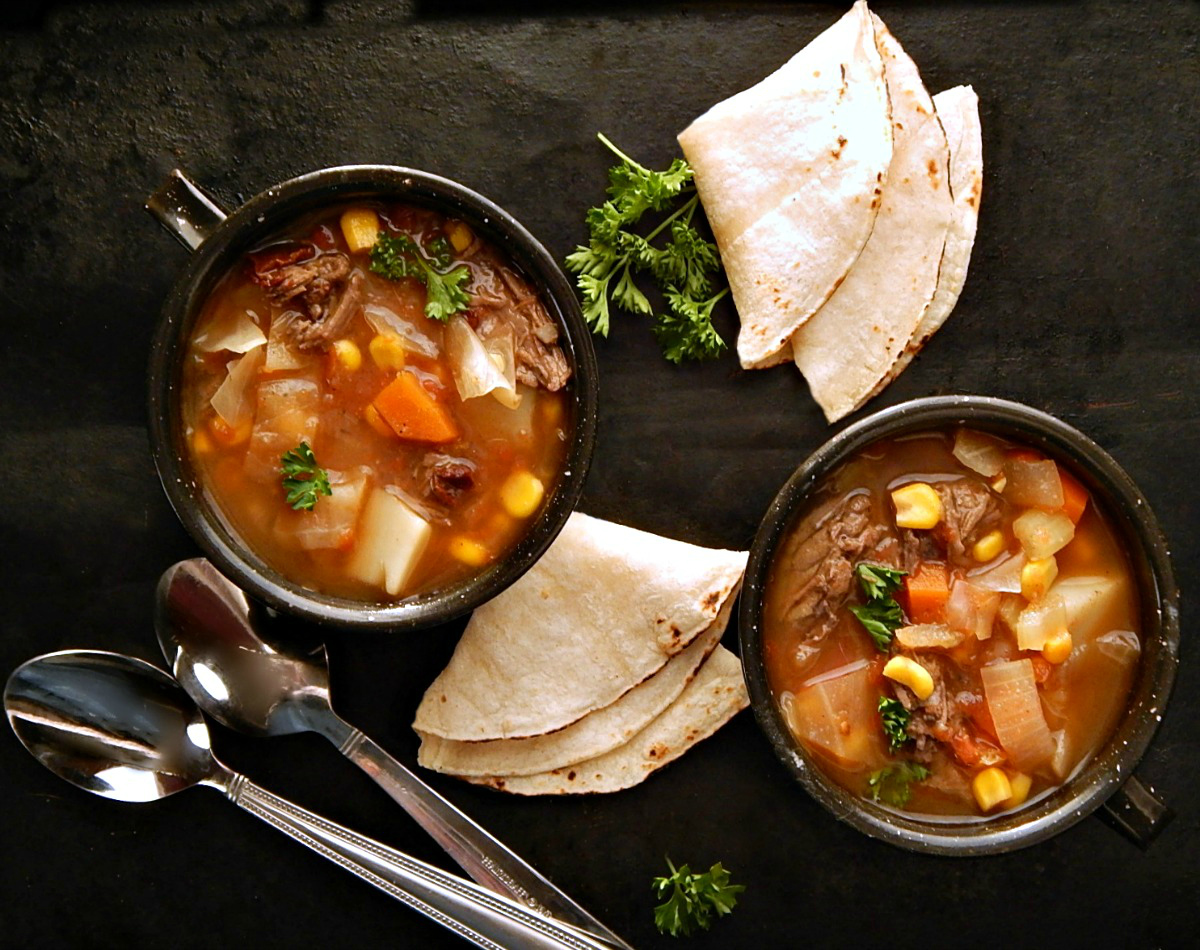 Shortcut Caldo de Res - Mexican Beef Soup
