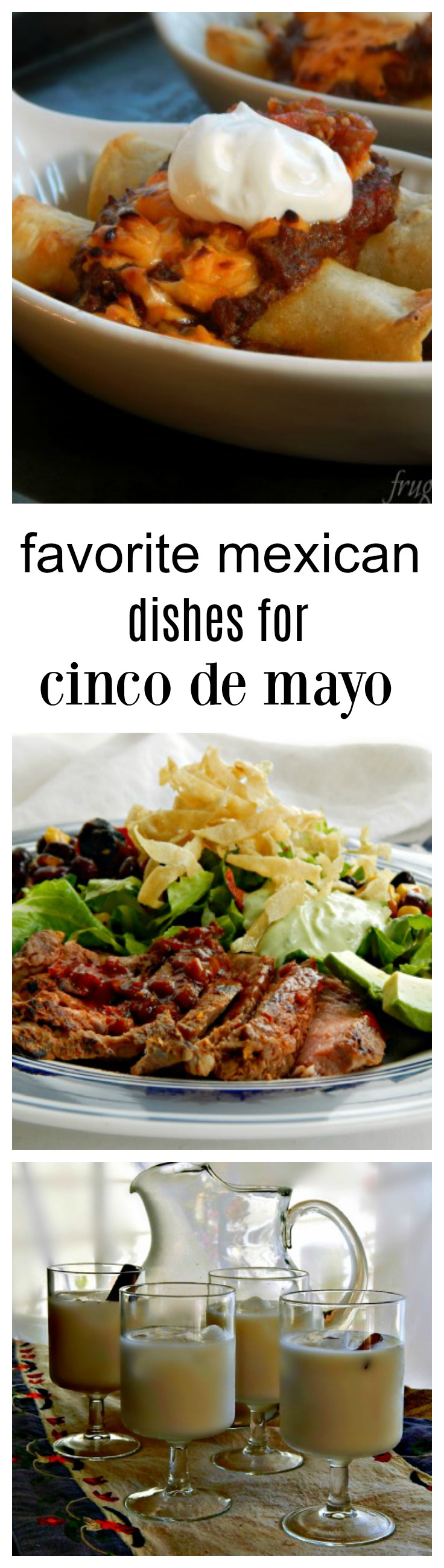Collection of favorite recipes for Cinco de Mayo or anytime! Classic Mexican, Southwestern, Tex Mex and Mexican American! Over 100 recipes. #RecipesCincoDeMayo #MexicanRecipes