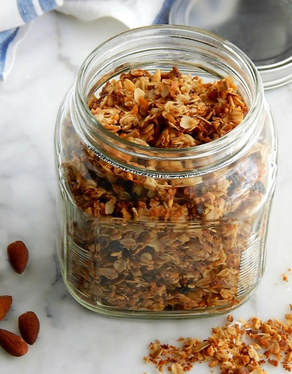 Healthy Almond Coconut Granola