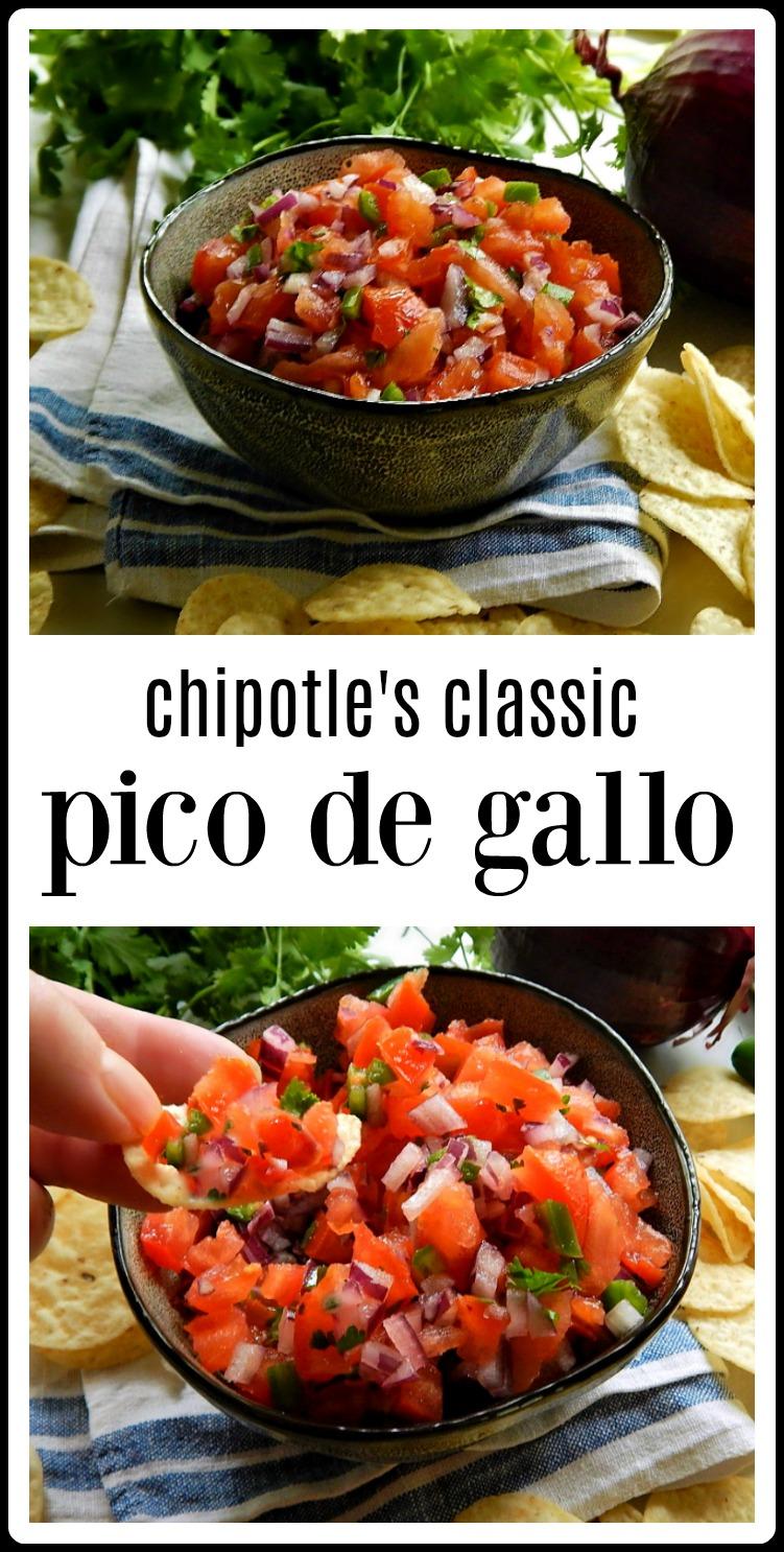 Chipotle's Mexican Grill's Classic Pico de Gallo - Fresh fast & fun! #ChipotlesCopycat #ChipotlesCopyCatPicoDeGallo, #PicodeGallo