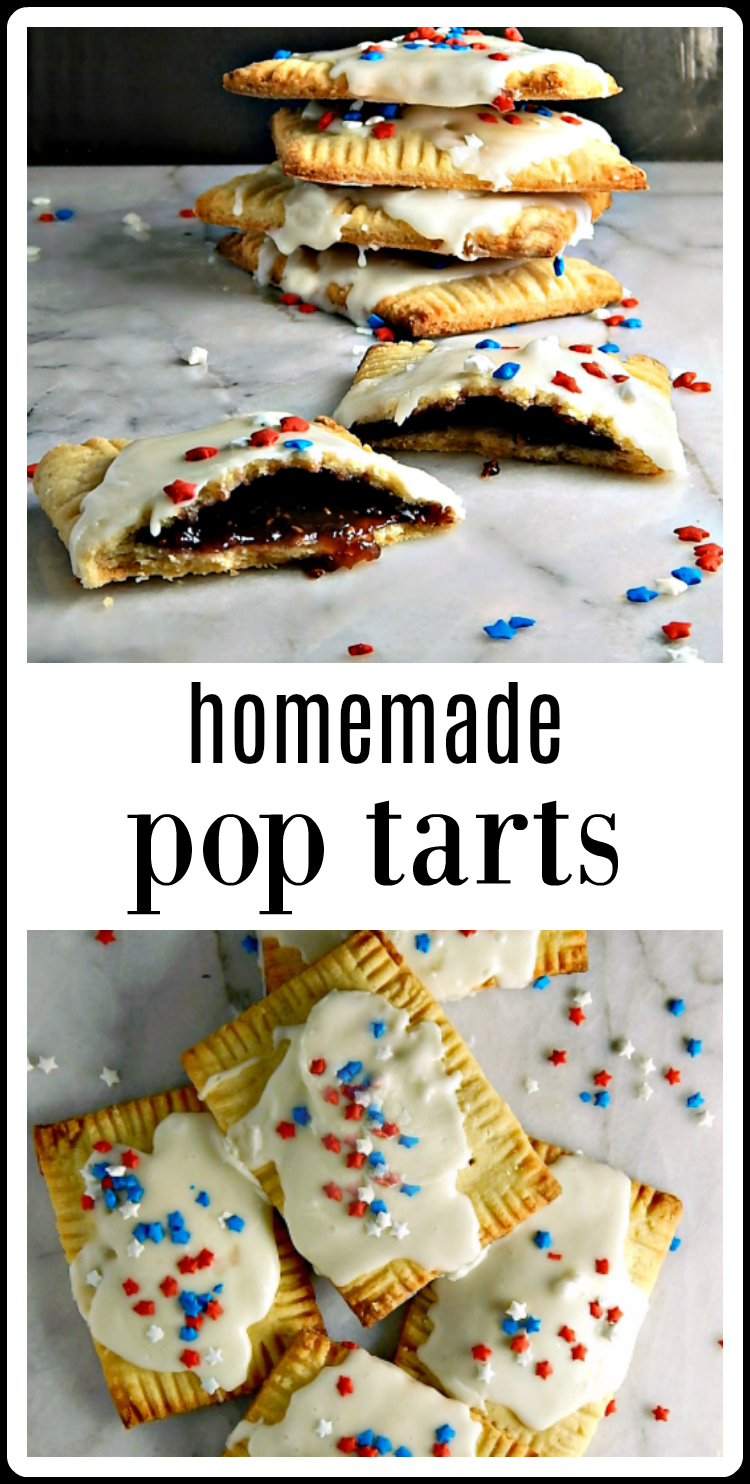 These Homemade Pop Tarts have a filling of your choice - but it is the buttery flakey pastry that's going to win your heart. #PopTarts #HomemadePopTarts