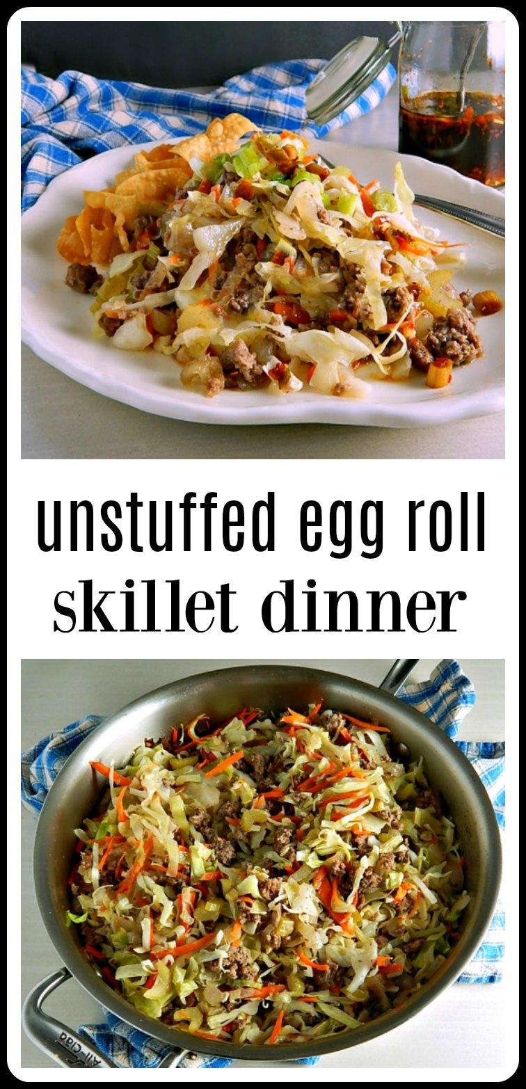 Pin Unstuffed Egg Roll Skillet Dinner
