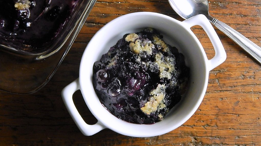 Blueberry Cobbler with Sugar Cookie Topping