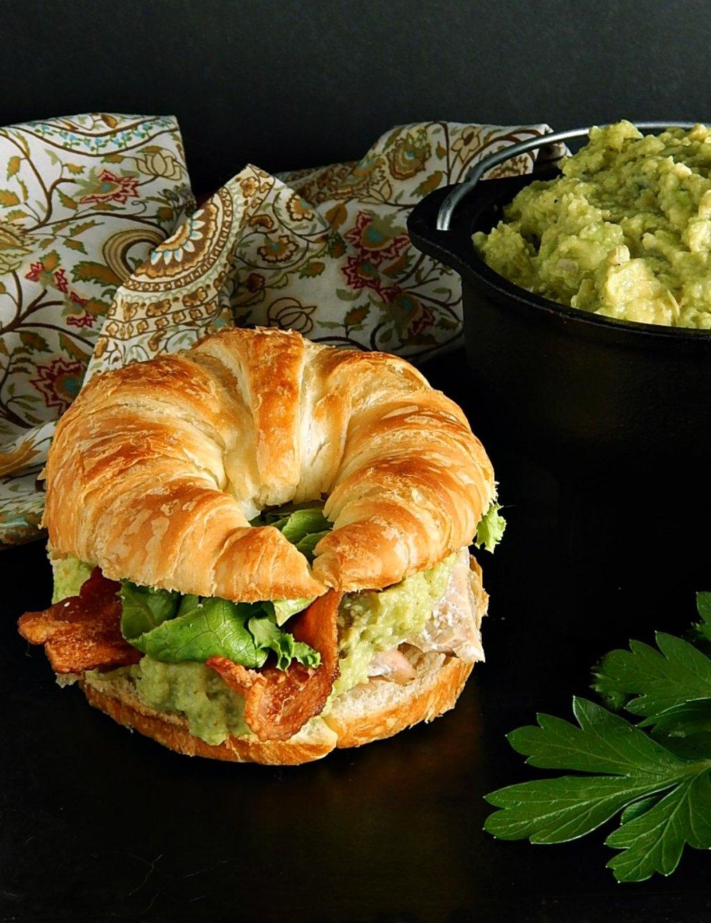 Ina Garten's Guacamole Salmon Sandwich