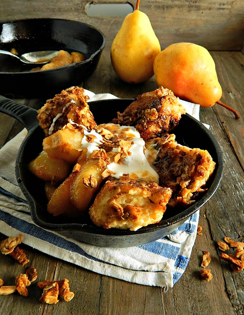 Epic Pear Almond Granola French Toast