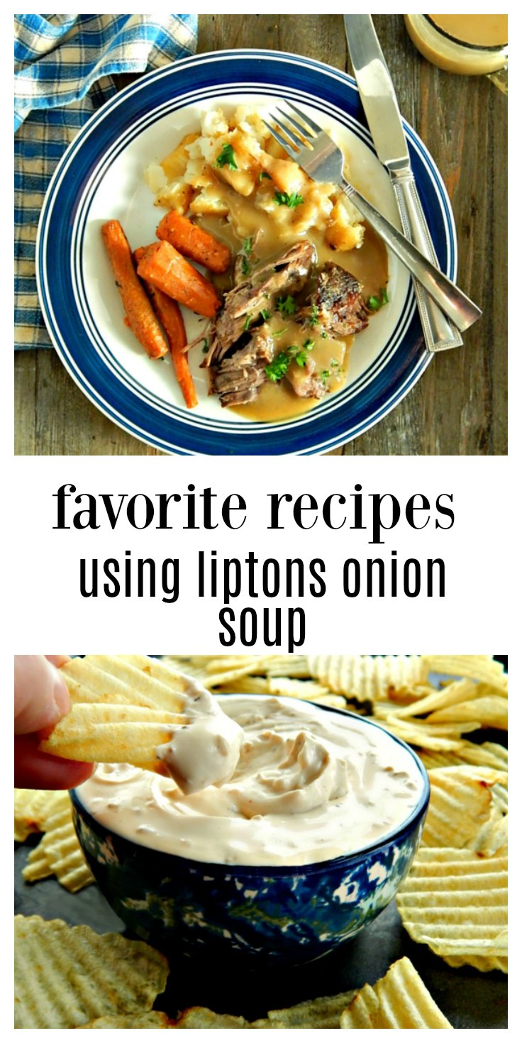 A few of our favorite recipes using Liptons Onion Soup Dip - Lipton's Onion Soup Collection of Recipes #LiptonOnionSoupRecipes #LiptonsOnionSoupRecipes