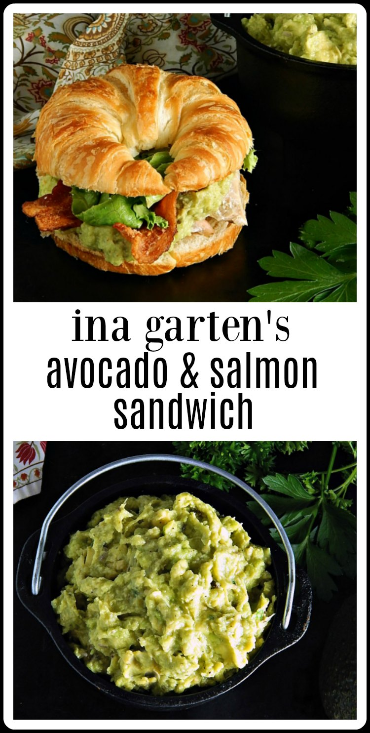 Ina Garten\'s Salmon & Guacamole Sandwich is the most amazing combination of flavors! So easy, so fresh, so good and so healthy! The best! #InaGartenSalmonGuacamoleSandwich #GuacamoleSalmonSandwich