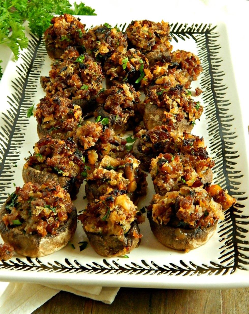 Cider & Sausage Stuffed Mushrooms