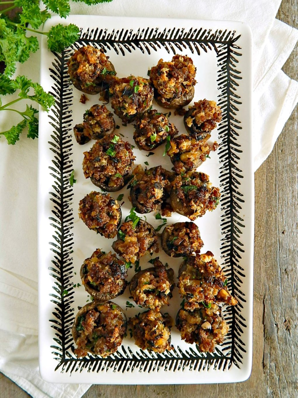 Cider & Sausage Stuffed Mushrooms