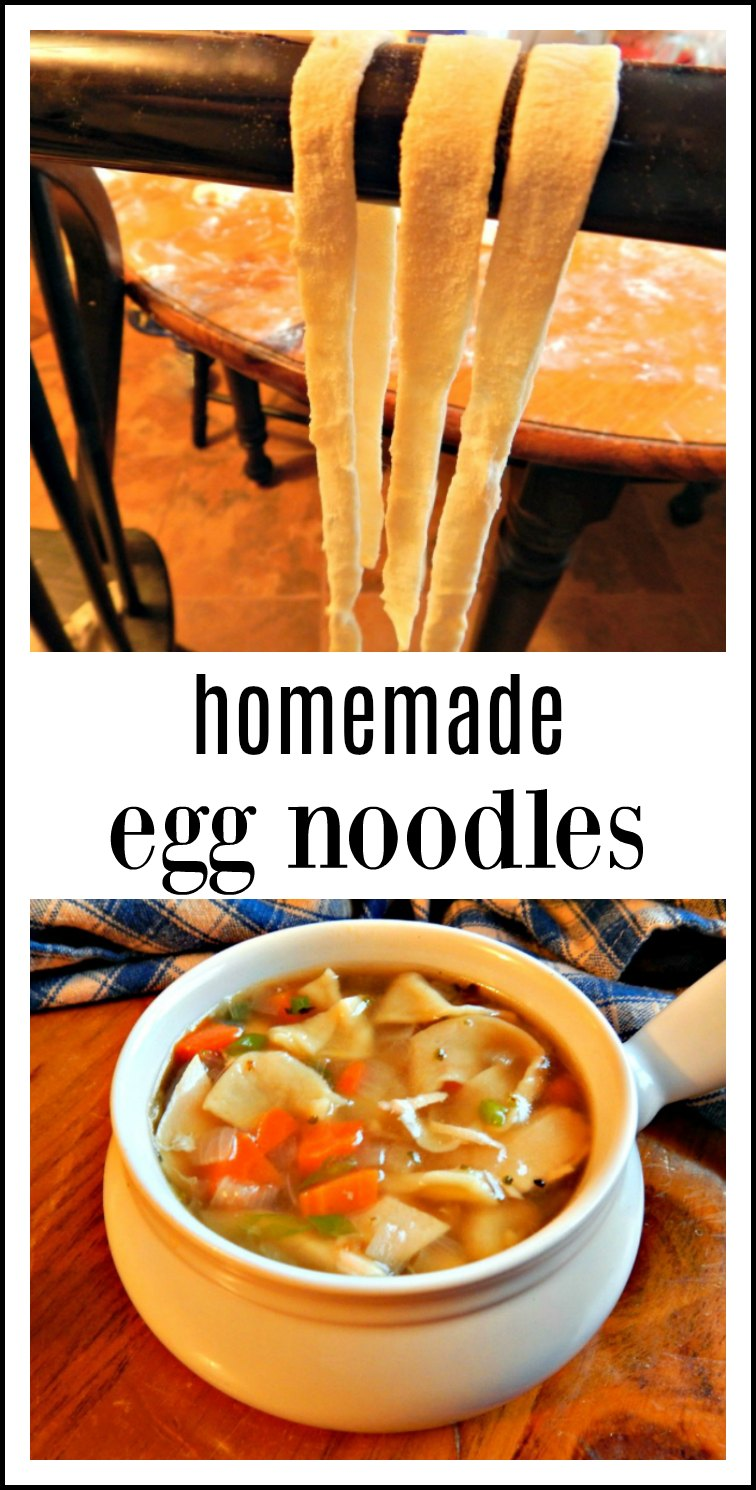 After you make these Homemade Egg Noodles once or twice, you'll be knocking them out like a pro by hand in no time at all - very simple old German recipe. So much easier and so much better than you could imagine! #HomemadeEggNoodles