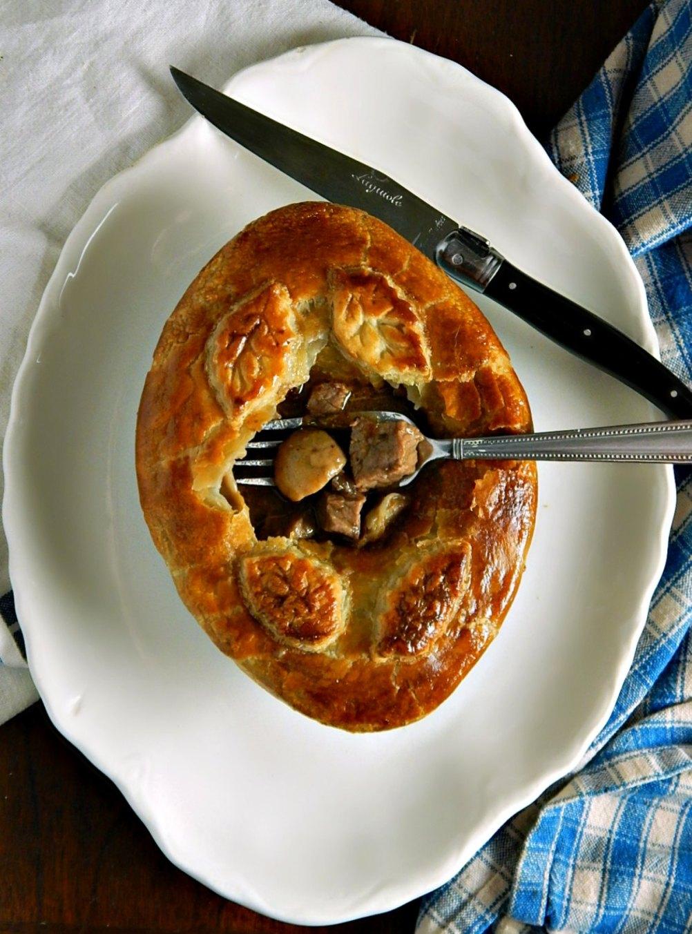 Leftover Steak & Mushroom Pies