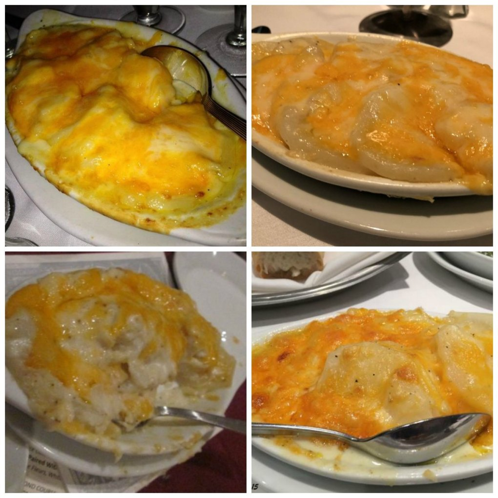 Ruth's Chris Potatoes au Gratin Copycat photos are from yelp and trip advisor