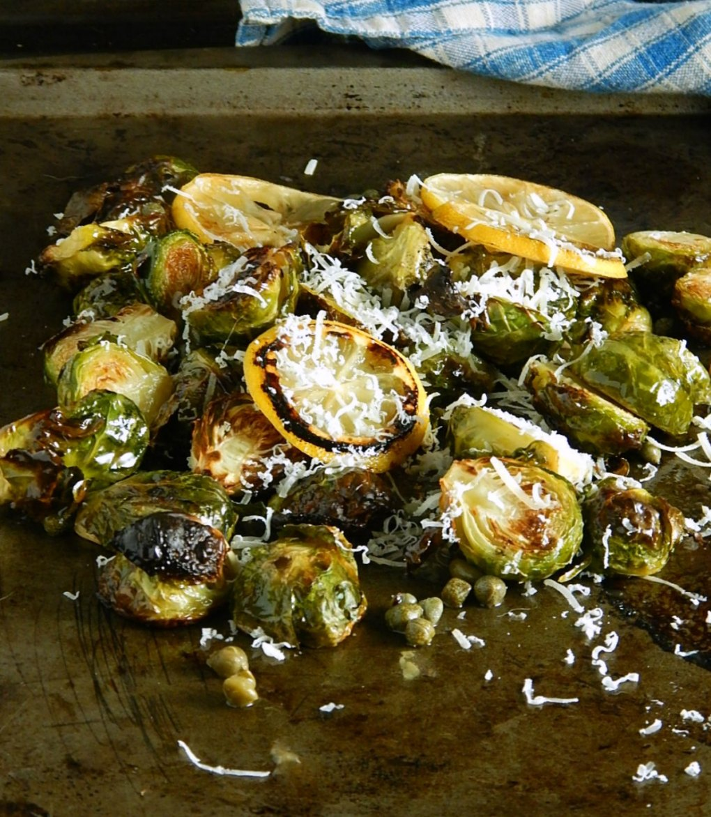 Restaurant Style Brussels with Lemon Caper Butter Sauce