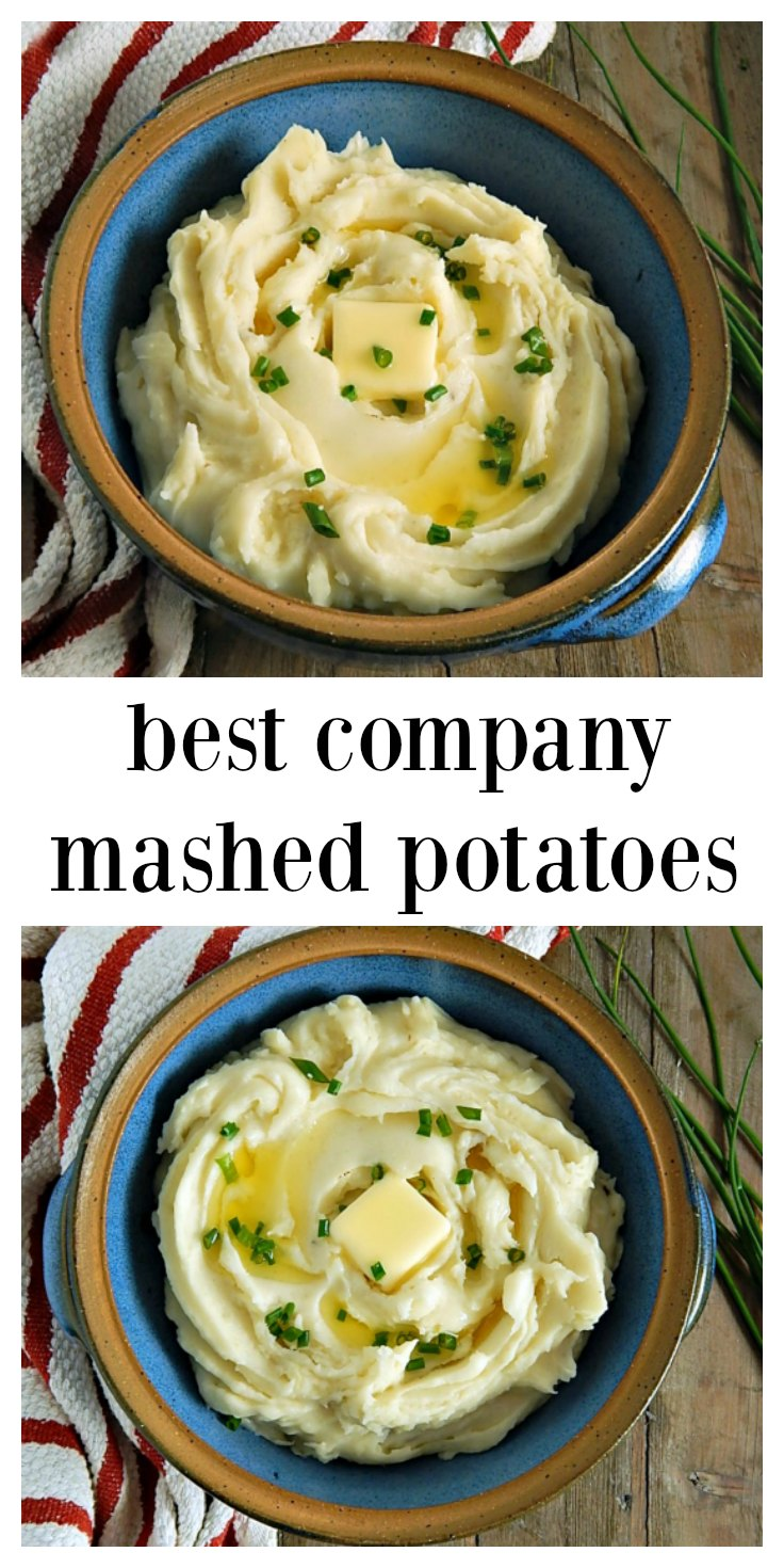 Best Company Mashed Potatoes are creamy, dreamy, silky & smooth with just the right amount of heft. This is the perfect no-fuss recipe for the perfect mash! #PerfectMashedPotatoes #BestMashedPotatoes #CooksIllustratedMashedPotatoes #BestCompanyMashedPotatoes