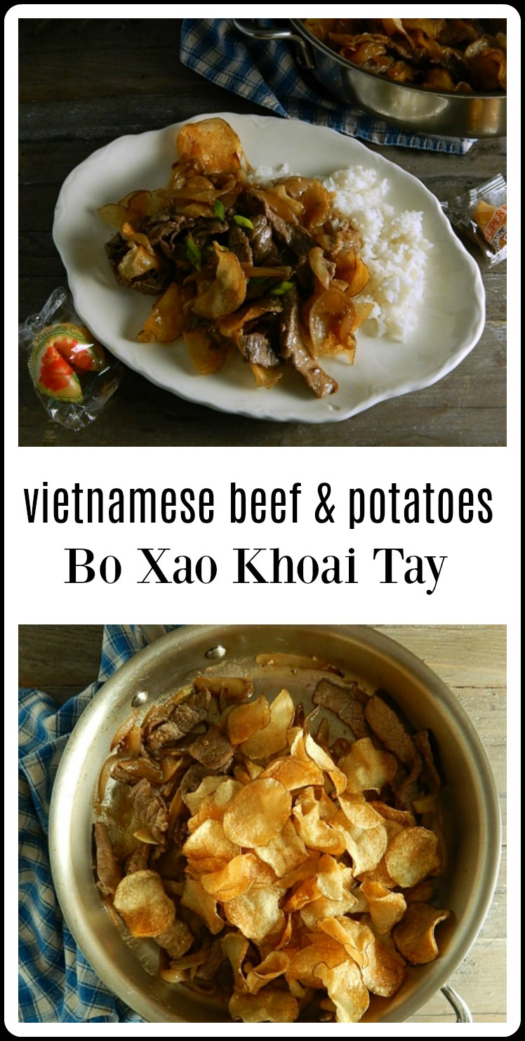 Vietnamese Beef & Potatoes Bo Xao Khoai Tay is so delish and your whole family will fall in love. Simple ingredients, Complex taste! #Beef&PotatoStirFry #VietnamesBeefPotato #Vietnamese #BoXaoKhoaiTay