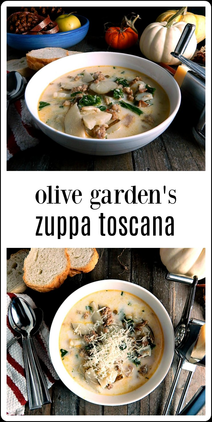Olive Garden's Zuppa Toscana Copycat is comfort food; so flavorful. This is the OG original recipe from their website. Quick and easy. #ZuppaToscana #OliveGardenZuppaToscana #OliveGardenZuppaToscanaRecipe