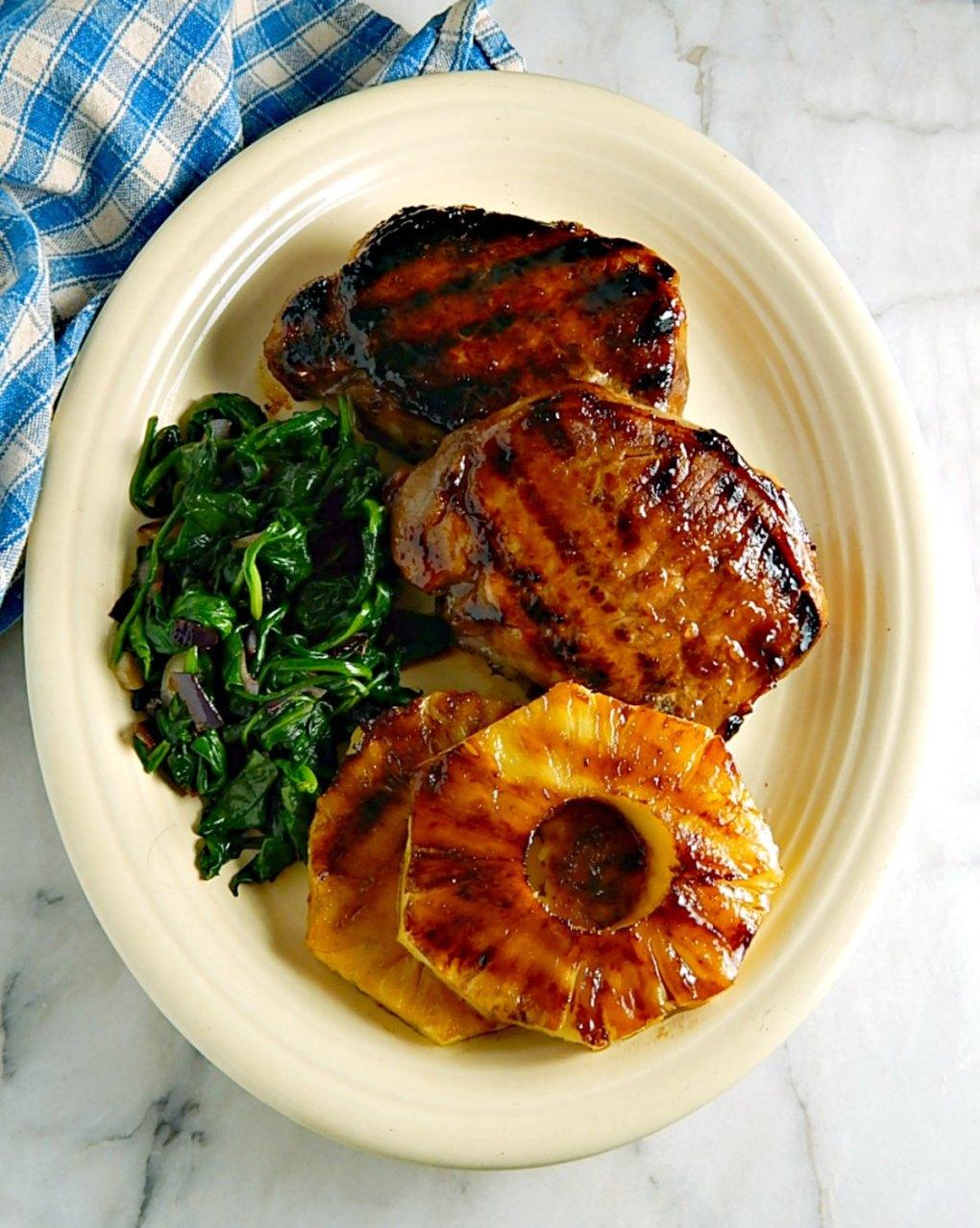 Grilled Hawaiian Pineapple Pork Chops