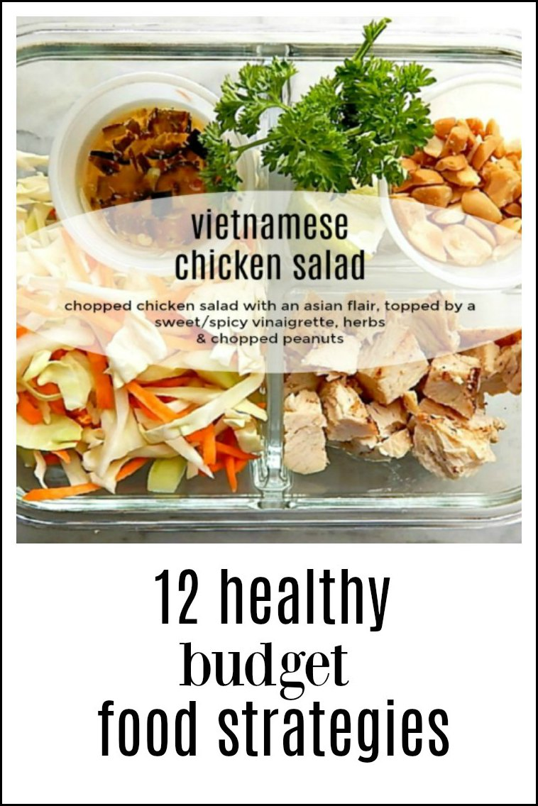 12 Healthy Budget Meal Strategies to get dinner breakfast, lunch or dinner on the table, healthy & cheap! Recipes, too! #HealthyDinnerStrategies #BudgetDinnerStrategies #12HealthyDinnerStrategies