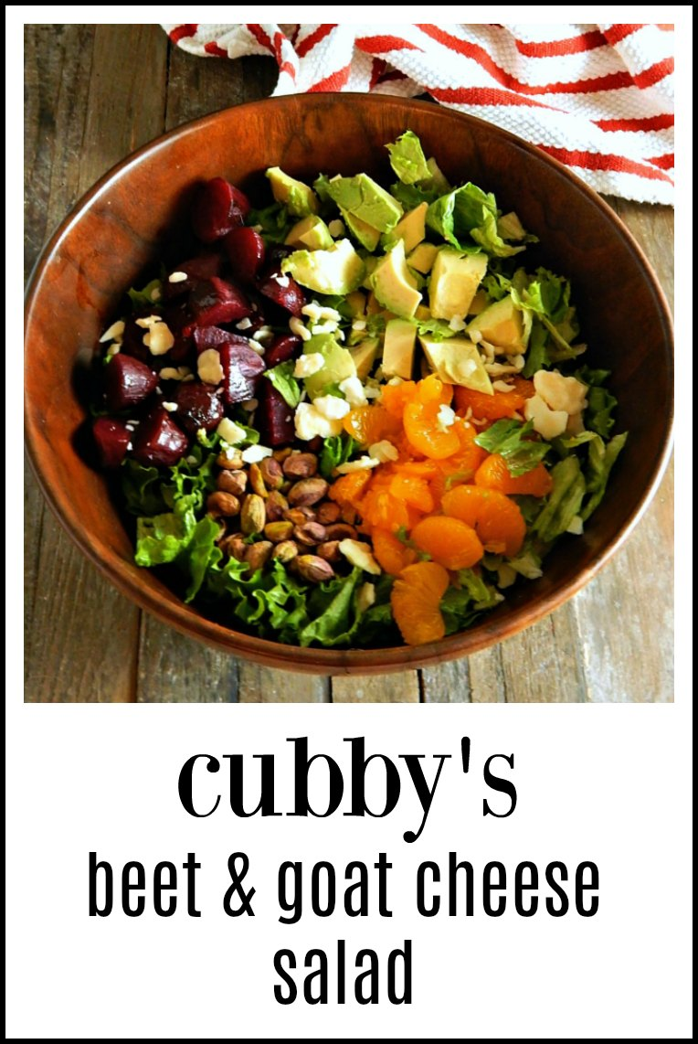 Cubby's Beet & Goat Cheese Salad - the perfect thing for any time of year, full of good stuff! & that dressing is to die for! #BeetGoatCheeseSalad #CubbysBeetGoatCheeseSalad #CubbysSaladBeetsAvocadoPistachioOrange