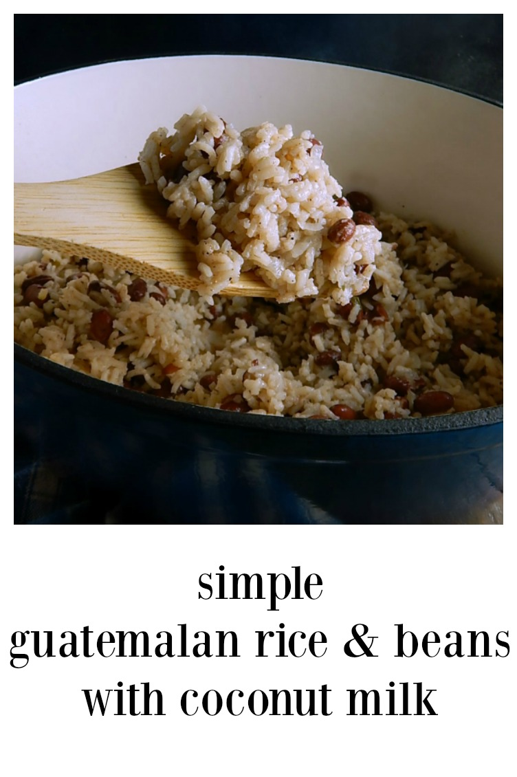 This is a quicker, shortcut to get Guatemalan Rice & Beans on the table; a fraction of the time, all the creamy, delish flavor! #GuatemalanRiceBeans