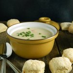Simon Pearce Vermont Cheddar Soup with Simon Pearce's Rory's Scones
