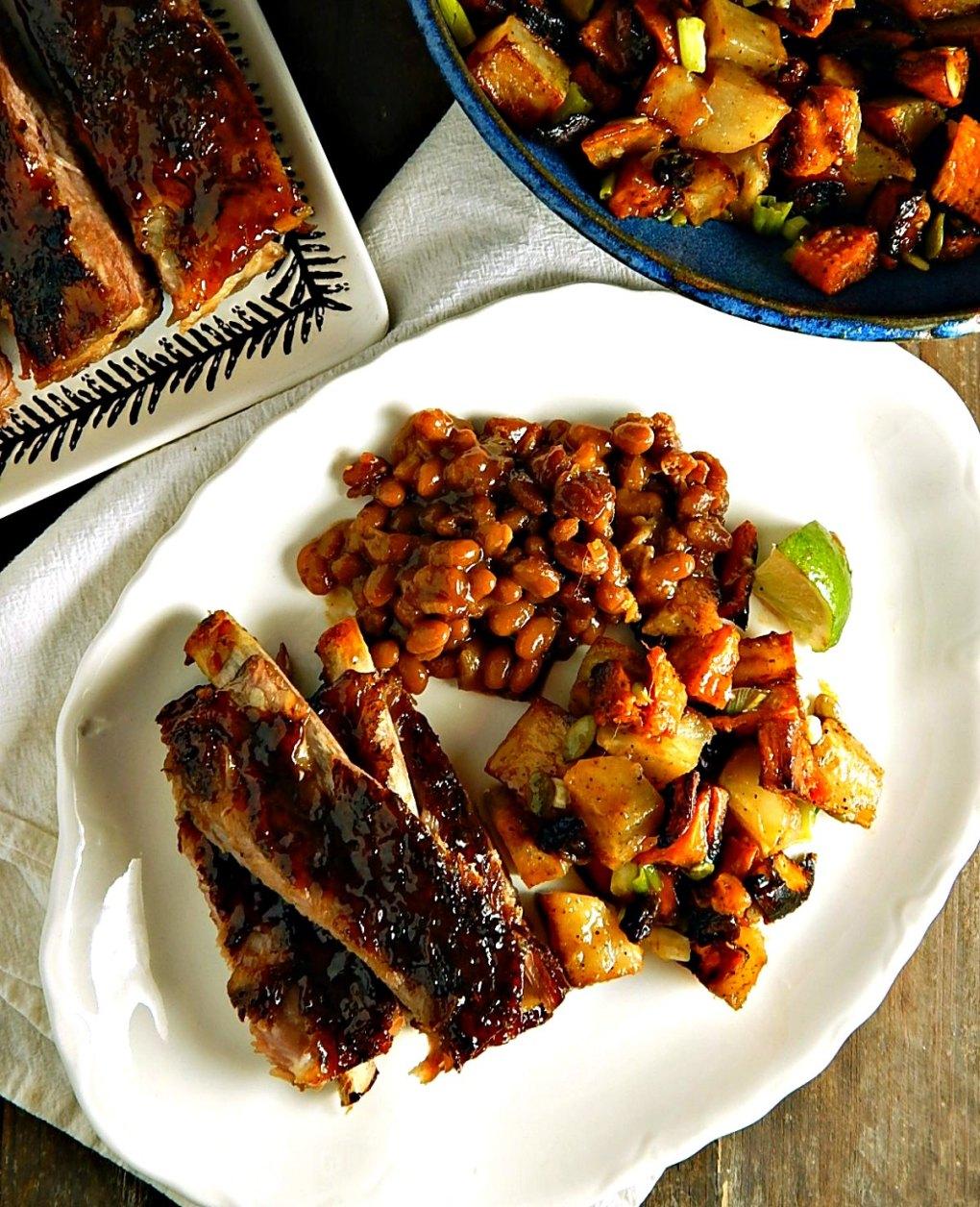 Spicy Jerk Ribs with Sweet Chutney Glaze