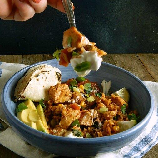 Southwestern Chicken Instant Pot Bowls
