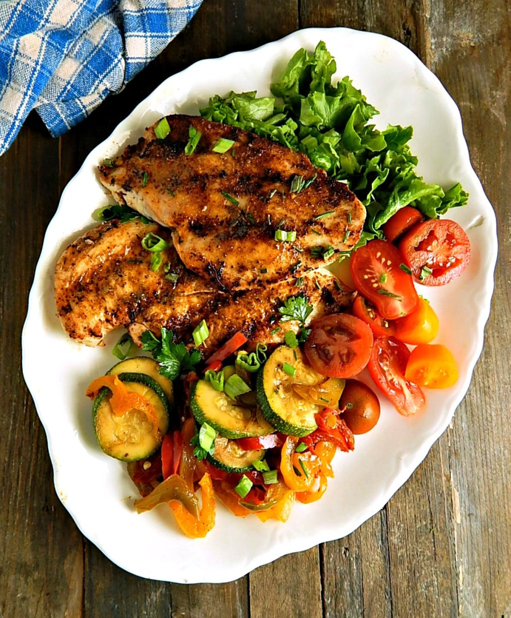 Grilled Blackened Chicken Breasts