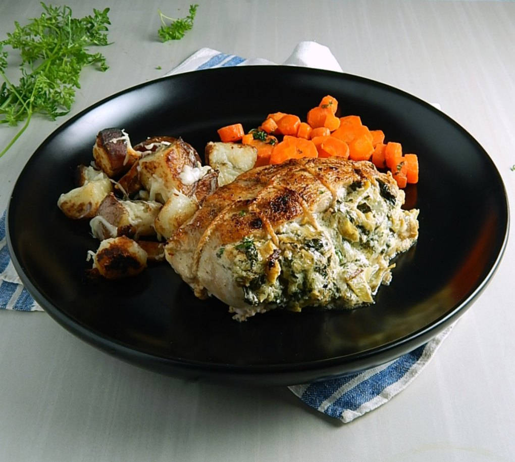Spinach Artichoke Dip Stuffed Chicken Breasts
