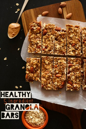 Healthy Five Ingredient Granola Bars from the Minimalist Baker