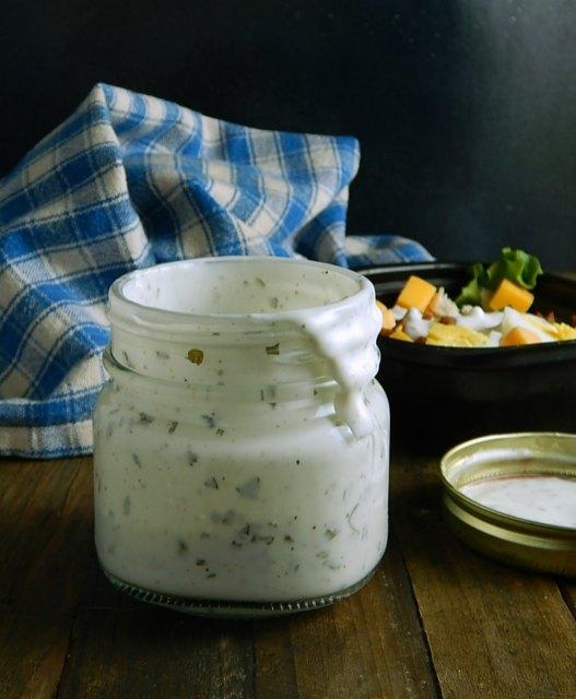 Shake in a Jar Yogurt Dressing