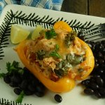 Mexican Shredded Chicken Stuffed Peppers
