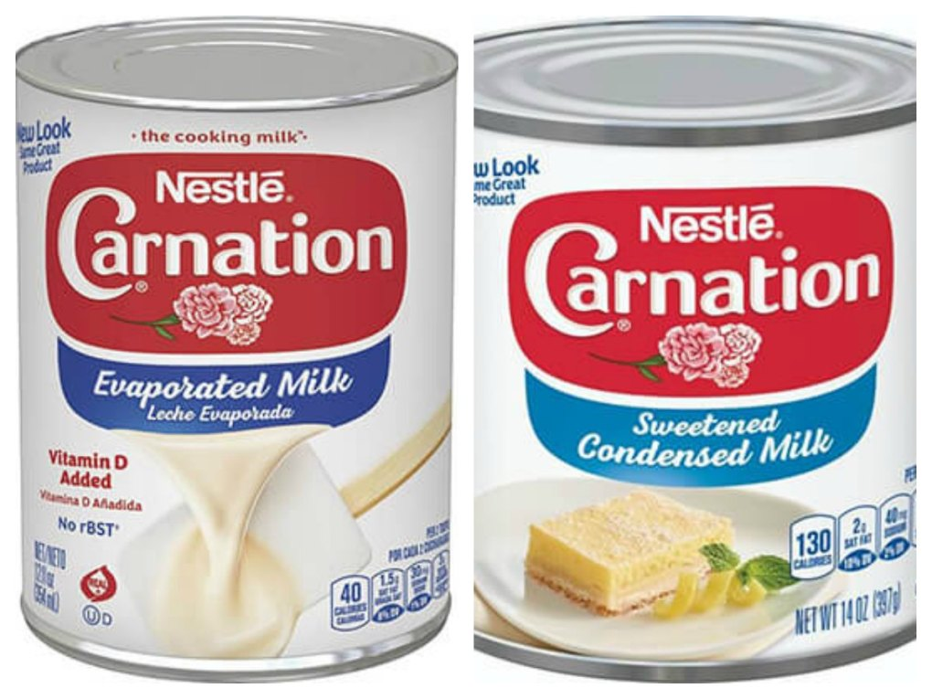 Condensed Evaporated Milk