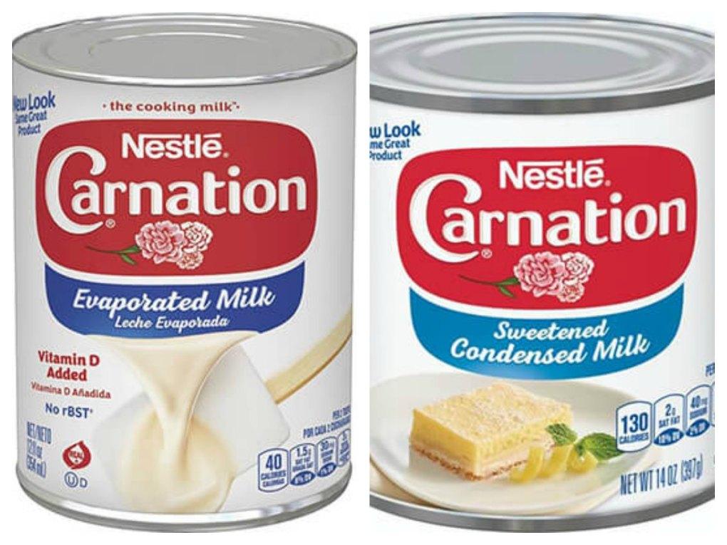 Condensed Evaporated Milk