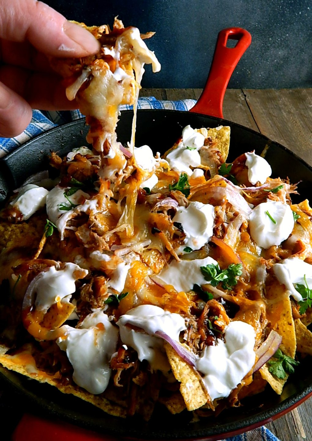 Barbecue Pulled Pork Nachos