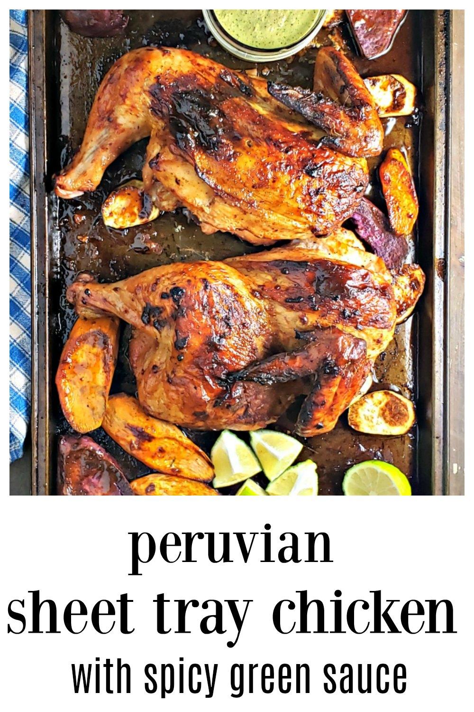 Peruvian Chicken with Green Sauce