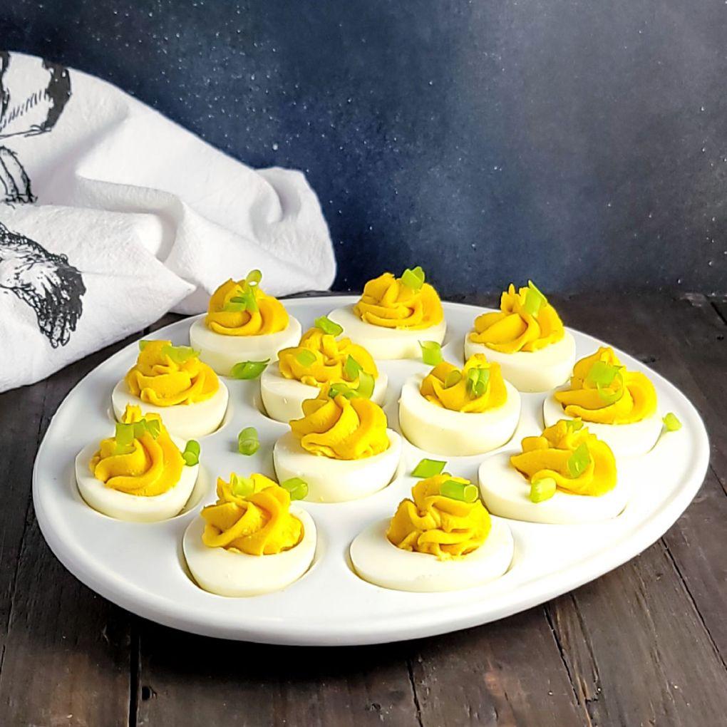 Wasabi Ginger Deviled Eggs