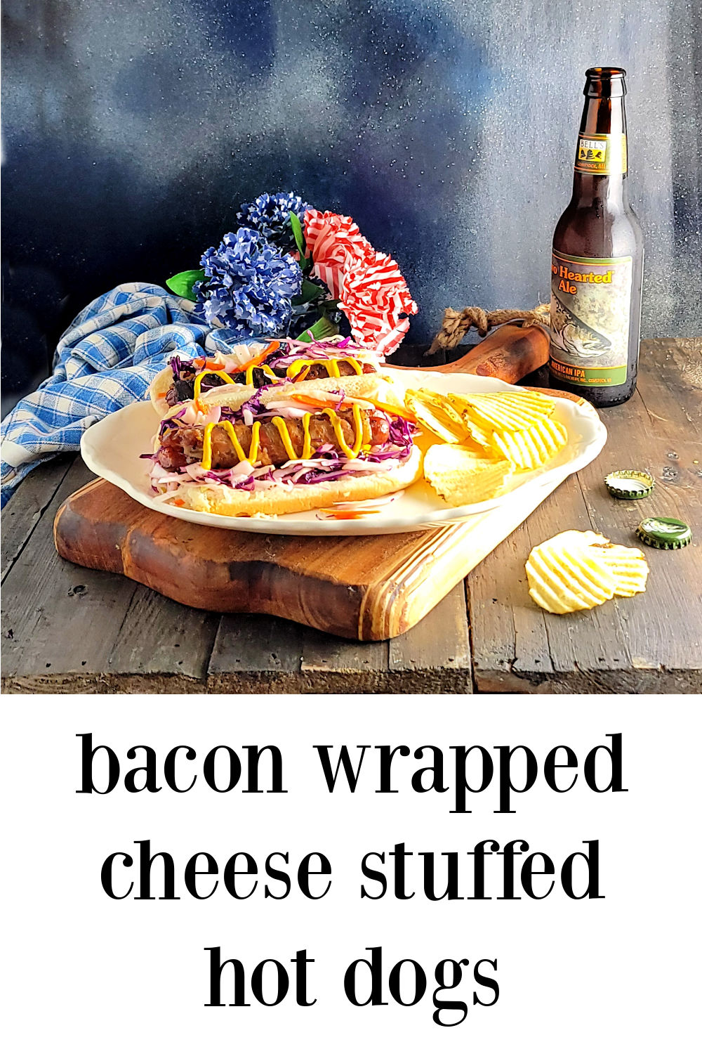 pin Bacon Wrapped Cheese Stuffed Hot Dogs