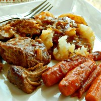 Oven Braised Pork with Root Vegetables . $6.87
