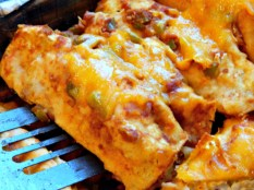 Concentrate cheese in aeas & you'll use less with ooey gooey results https://frugalhausfrau.com/2011/11/14/chicken-or-turkey-enchiladas/