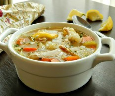 Chicken & Rice Soup https://frugalhausfrau.com/2015/04/08/chicken-rice-soup/
