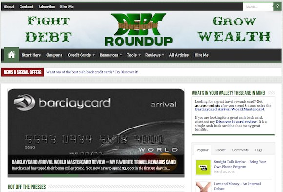 Debt Roundup Screen Shot