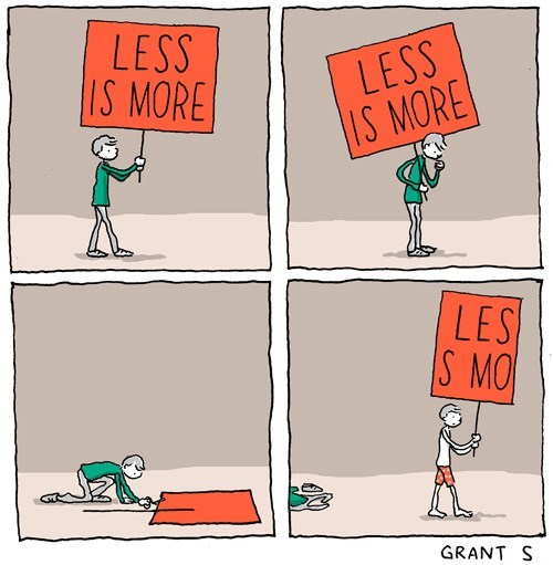 Less is more. Incidental Comics.