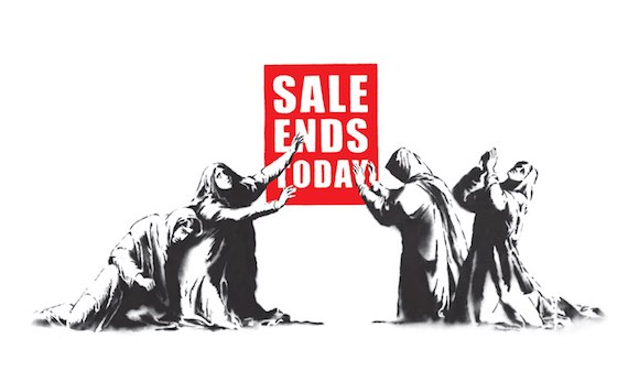 Sale Ends Today Banksy Art Consumption
