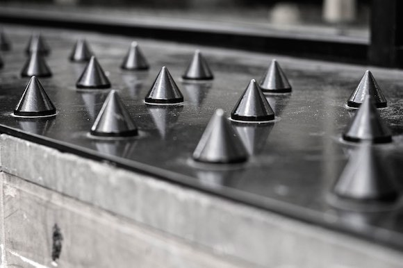 Anti-Homeless Spikes Hostile Architecture Photo
